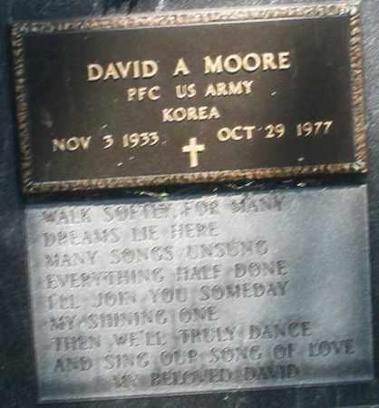 MOORE, DAVID A. - Montgomery County, Ohio | DAVID A. MOORE - Ohio Gravestone Photos