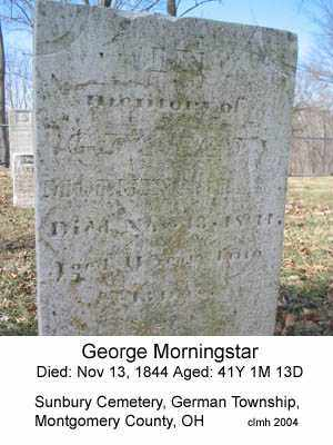MORNINGSTAR, GEORGE - Montgomery County, Ohio | GEORGE MORNINGSTAR - Ohio Gravestone Photos