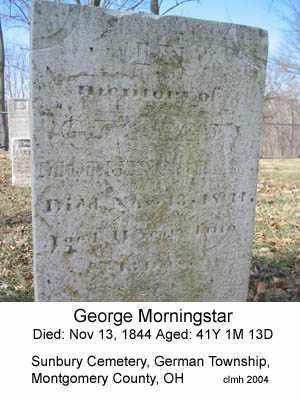 MORNINGSTAR, GEORGE - Montgomery County, Ohio | GEORGE MORNINGSTAR - Ohio Gravestone Photos