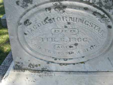 MORNINGSTAR, JACOB - Montgomery County, Ohio | JACOB MORNINGSTAR - Ohio Gravestone Photos