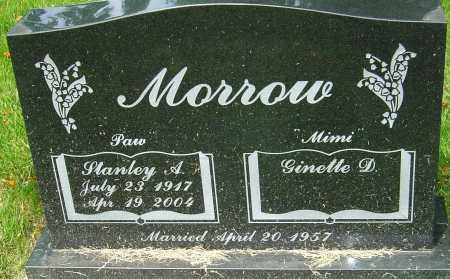 MORROW, STANLEY A - Montgomery County, Ohio   STANLEY A MORROW - Ohio Gravestone Photos