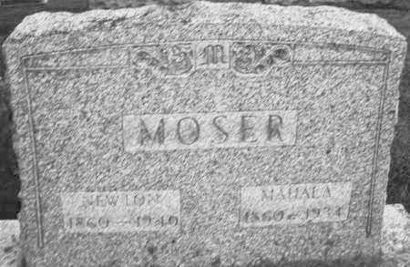 MOSER, NEWTON - Montgomery County, Ohio | NEWTON MOSER - Ohio Gravestone Photos