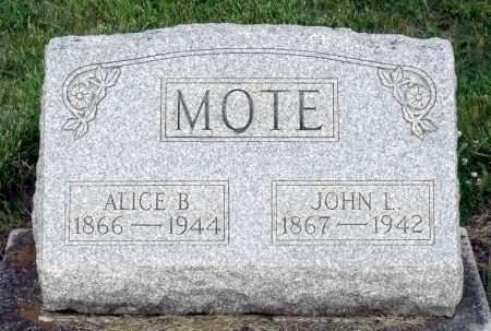 MOTE, JOHN L. - Montgomery County, Ohio | JOHN L. MOTE - Ohio Gravestone Photos