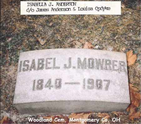 MOWRER, ISABEL - Montgomery County, Ohio | ISABEL MOWRER - Ohio Gravestone Photos