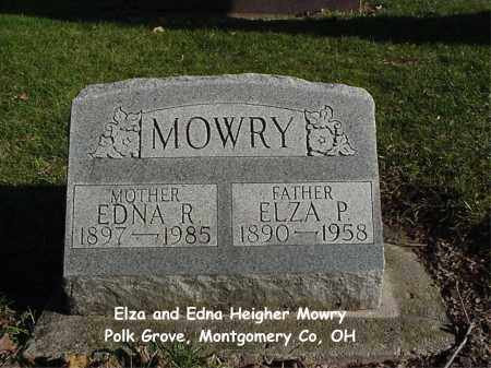 HEIGHER MOWRY, EDNA - Montgomery County, Ohio | EDNA HEIGHER MOWRY - Ohio Gravestone Photos