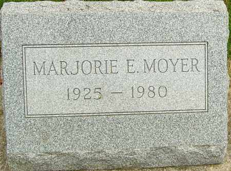 MOYER, MARJORIE E - Montgomery County, Ohio | MARJORIE E MOYER - Ohio Gravestone Photos