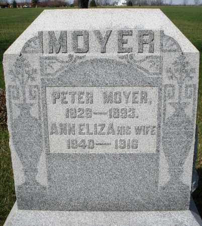 MOYER, ANN ELIZA - Montgomery County, Ohio | ANN ELIZA MOYER - Ohio Gravestone Photos