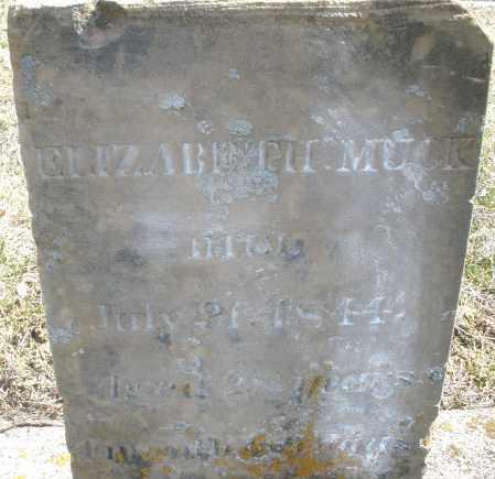 MUCK, ELIZABETH - Montgomery County, Ohio | ELIZABETH MUCK - Ohio Gravestone Photos
