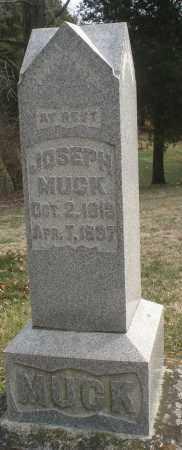 MUCK, JOSEPH - Montgomery County, Ohio | JOSEPH MUCK - Ohio Gravestone Photos