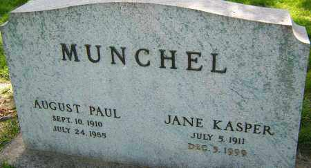 MUNCHEL, JANE KASPER - Montgomery County, Ohio | JANE KASPER MUNCHEL - Ohio Gravestone Photos