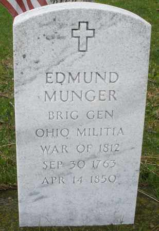 MUNGER, EDMUND - Montgomery County, Ohio | EDMUND MUNGER - Ohio Gravestone Photos
