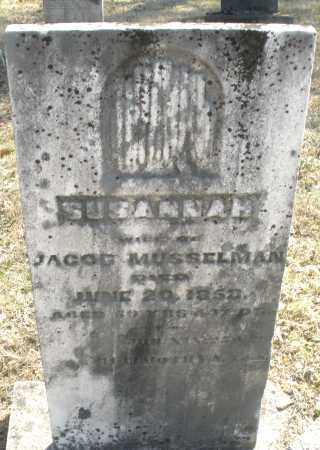 MUSSELMAN, SUSANNAH - Montgomery County, Ohio | SUSANNAH MUSSELMAN - Ohio Gravestone Photos