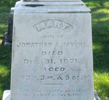 MYERS, MARY - Montgomery County, Ohio | MARY MYERS - Ohio Gravestone Photos