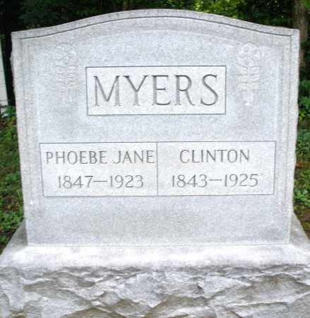 MYERS, PHOEBE JANE - Montgomery County, Ohio | PHOEBE JANE MYERS - Ohio Gravestone Photos