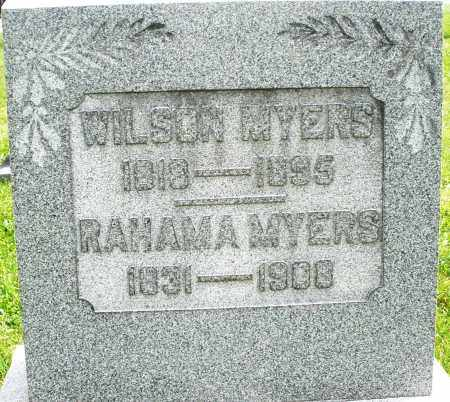 MYERS, RAHAMA - Montgomery County, Ohio | RAHAMA MYERS - Ohio Gravestone Photos
