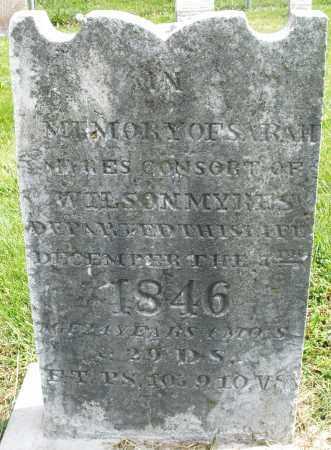 MYRES, SARAH - Montgomery County, Ohio | SARAH MYRES - Ohio Gravestone Photos