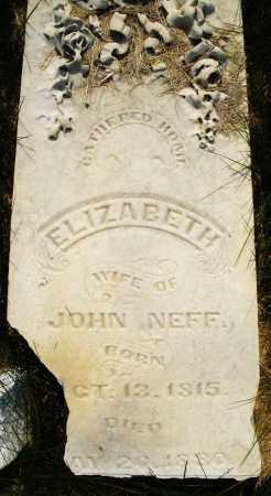 NEFF, ELIZABETH - Montgomery County, Ohio | ELIZABETH NEFF - Ohio Gravestone Photos