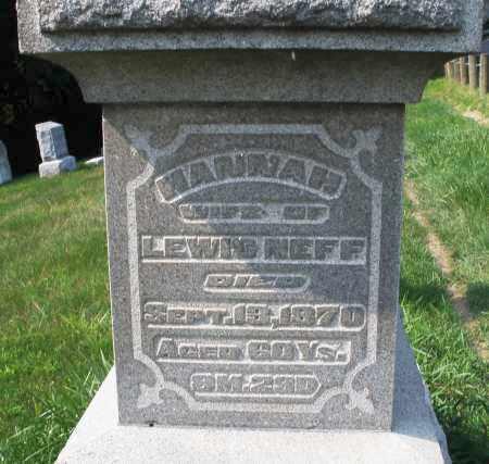 NEFF, HANNAH - Montgomery County, Ohio | HANNAH NEFF - Ohio Gravestone Photos