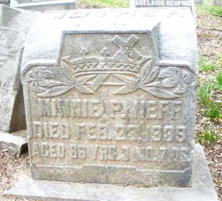 NEFF, MINNIE P. - Montgomery County, Ohio   MINNIE P. NEFF - Ohio Gravestone Photos