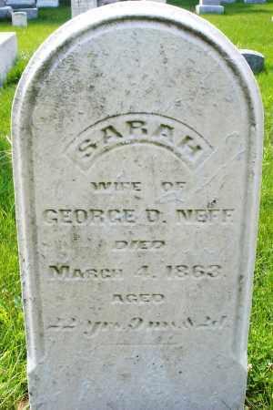 NEFF, SARAH - Montgomery County, Ohio | SARAH NEFF - Ohio Gravestone Photos