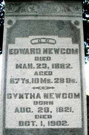 NEWCOM, EDWARD - Montgomery County, Ohio | EDWARD NEWCOM - Ohio Gravestone Photos