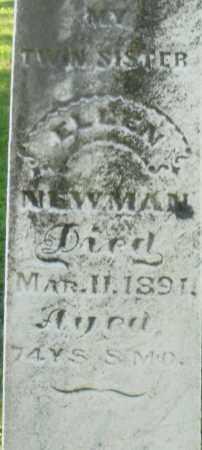 NEWMAN, ELLEN - Montgomery County, Ohio | ELLEN NEWMAN - Ohio Gravestone Photos