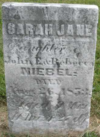 NIEBEL, SARAH JANE - Montgomery County, Ohio | SARAH JANE NIEBEL - Ohio Gravestone Photos