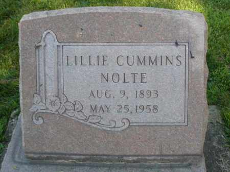 CUMMINS NOLTE, LILLIE - Montgomery County, Ohio | LILLIE CUMMINS NOLTE - Ohio Gravestone Photos