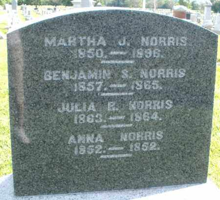 NORRIS, JULIA - Montgomery County, Ohio | JULIA NORRIS - Ohio Gravestone Photos