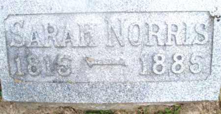 NORRIS, SARAH - Montgomery County, Ohio | SARAH NORRIS - Ohio Gravestone Photos