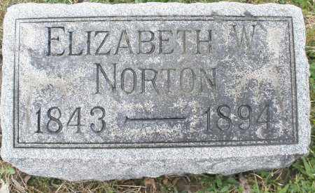 NORTON, ELIZABETH W. - Montgomery County, Ohio | ELIZABETH W. NORTON - Ohio Gravestone Photos