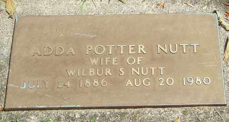 POTTER NUTT, ADDA - Montgomery County, Ohio | ADDA POTTER NUTT - Ohio Gravestone Photos