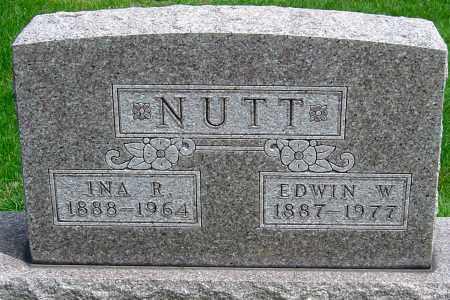 NUTT, EDWIN W - Montgomery County, Ohio | EDWIN W NUTT - Ohio Gravestone Photos