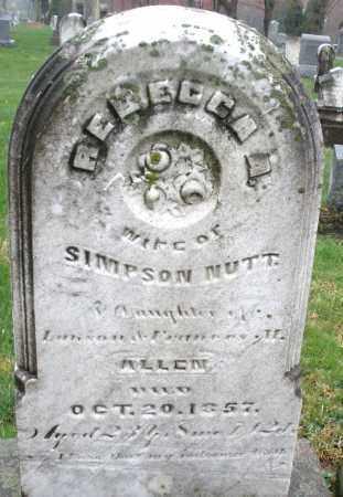 NUTT, REBECCA A. - Montgomery County, Ohio | REBECCA A. NUTT - Ohio Gravestone Photos