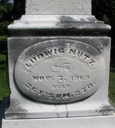 NUTZ, LUDWIG - Montgomery County, Ohio | LUDWIG NUTZ - Ohio Gravestone Photos