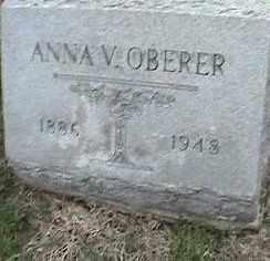 OBERER, ANNA V. - Montgomery County, Ohio | ANNA V. OBERER - Ohio Gravestone Photos