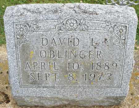 OBLINGER, DAVID L. - Montgomery County, Ohio | DAVID L. OBLINGER - Ohio Gravestone Photos