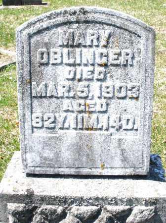 OBLINGER, MARY - Montgomery County, Ohio | MARY OBLINGER - Ohio Gravestone Photos