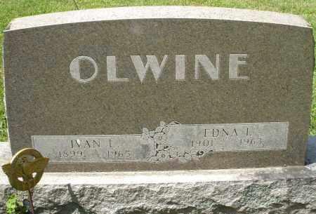 OLWINE, IVAN L. - Montgomery County, Ohio | IVAN L. OLWINE - Ohio Gravestone Photos