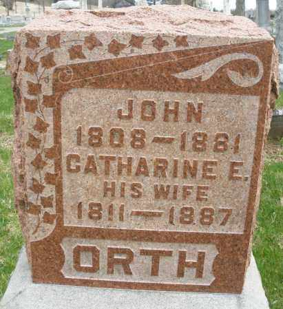 ORTH, CATHARINE E. - Montgomery County, Ohio | CATHARINE E. ORTH - Ohio Gravestone Photos