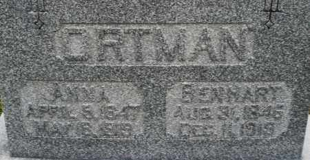 ORTMAN, ANN - Montgomery County, Ohio | ANN ORTMAN - Ohio Gravestone Photos