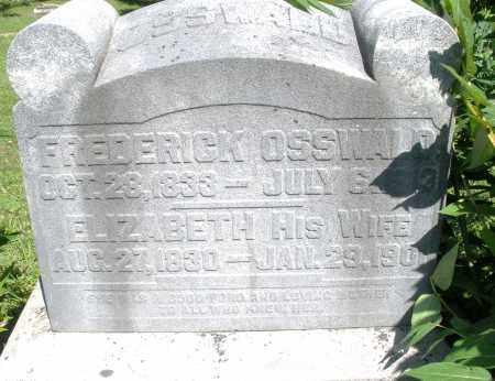 OSSWALD, FREDERICK - Montgomery County, Ohio | FREDERICK OSSWALD - Ohio Gravestone Photos