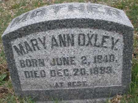 OXLEY, MARY ANN - Montgomery County, Ohio | MARY ANN OXLEY - Ohio Gravestone Photos