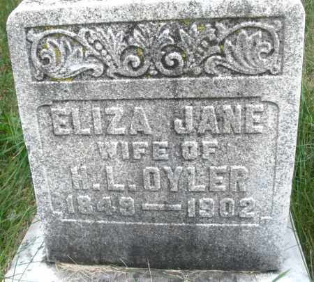 OYLER, ELIZA JANE - Montgomery County, Ohio | ELIZA JANE OYLER - Ohio Gravestone Photos
