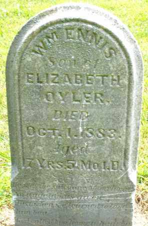 OYLER, WILLIAM ENNIS - Montgomery County, Ohio | WILLIAM ENNIS OYLER - Ohio Gravestone Photos