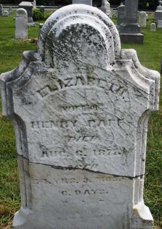 PAFF, ELIZABETH - Montgomery County, Ohio | ELIZABETH PAFF - Ohio Gravestone Photos