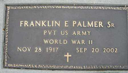 PALMER, FRANKLIN E. SR. - Montgomery County, Ohio | FRANKLIN E. SR. PALMER - Ohio Gravestone Photos