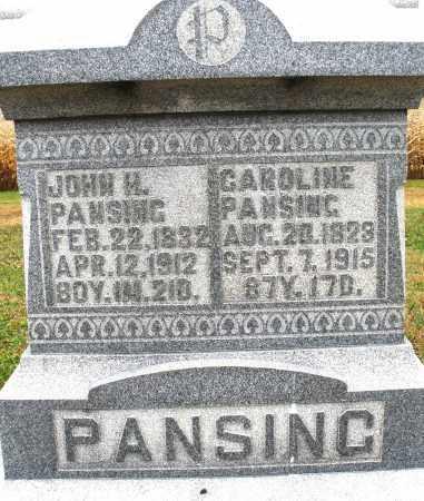 PANSING, JOHN H. - Montgomery County, Ohio | JOHN H. PANSING - Ohio Gravestone Photos