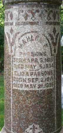 PARSONS, ELIZA - Montgomery County, Ohio | ELIZA PARSONS - Ohio Gravestone Photos