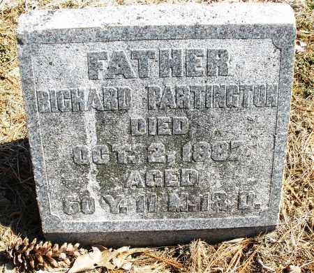PARTINGTON, RICHARD - Montgomery County, Ohio   RICHARD PARTINGTON - Ohio Gravestone Photos